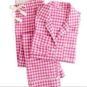 j crew plaid pajamas!
